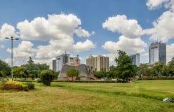 Monumento di Nyayo in Central Park a Nairobi, Kenya fotografie stock