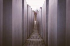 Monumento di olocausto a Berlino, Germania Immagine Stock