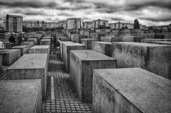 Monumento di olocausto di Berlino Immagini Stock Libere da Diritti