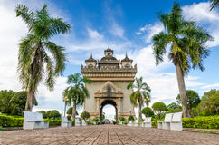 Monumento di Patuxai a Vientiane, Laos Immagine Stock Libera da Diritti