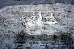 Monumento di pietra della montagna Fotografie Stock