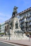Monumento di Pomnik Grunwaldzki, Cracovia, Polonia Fotografia Stock Libera da Diritti