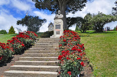 Monumento di Primo Capraro in San Carlos De Bariloche Fotografia Stock Libera da Diritti