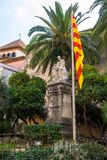 Monumento di Robert Doctor in Sitges, Barcellona, Spagna Fotografie Stock