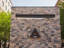 Monumento di Sandro Pertini a Milano Fotografie Stock Libere da Diritti