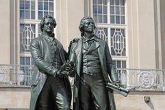 Monumento di Schiller e di Goethe Fotografia Stock Libera da Diritti