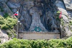 Monumento di Suvorov in Svizzera in Andermatt.Teufe Fotografia Stock Libera da Diritti