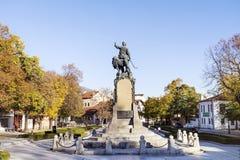 Monumento di Vasil Levski (apostolo di libertà) nella sua città indigena Karlovo, Bulgaria Immagini Stock Libere da Diritti