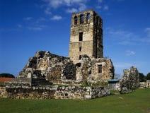 Monumento di vecchia città nella repubblica Panama Fotografie Stock Libere da Diritti