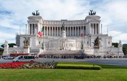 Monumento di Victor Emmanuel II, quadrato di Venezia, Roma, Italia Fotografia Stock Libera da Diritti