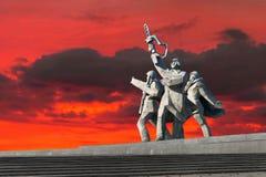 Monumento di vittoria della seconda guerra mondiale a Riga Fotografie Stock Libere da Diritti