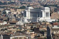 Monumento di Vittoriano dedicato a re di Vittorio Emanual II Fotografia Stock Libera da Diritti