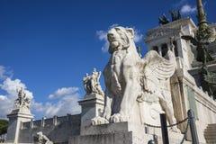 Monumento di Vittoriano a Roma Immagini Stock Libere da Diritti