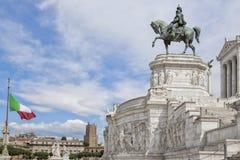 Monumento di Vittorio Emanuel Fotografie Stock