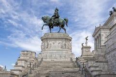 Monumento di Vittorio Emanuel Fotografia Stock