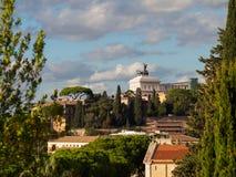 Monumento di Vittorio Emanuele a Roma Fotografie Stock