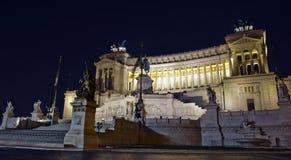 Monumento di Vittorio Emanuele, Roma Fotografie Stock Libere da Diritti