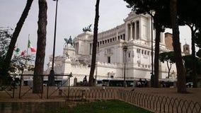 Monumento di Vittorio Emmanuele II a Roma Fotografie Stock