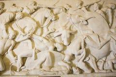 Monumento di Voortrekker Bassorilievo nel Corridoio degli eroi Immagini Stock Libere da Diritti