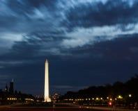 Monumento di Washington alla notte Fotografia Stock Libera da Diritti