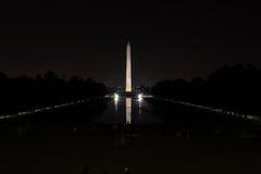 Monumento di Washington e raggruppamento di riflessione fotografia stock