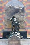 Monumento di Wilhelm Tell alla capitale cantonale di Altdorf Immagini Stock Libere da Diritti