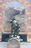 Monumento di Wilhelm Tell alla capitale cantonale di Altdorf Fotografie Stock Libere da Diritti