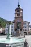 Monumento di Wilhelm Tell sulla capitale cantonale di Altdorf Fotografia Stock