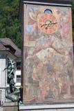 Monumento di Wilhelm Tell sulla capitale cantonale di Altdorf Fotografia Stock Libera da Diritti