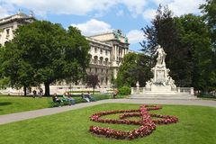 Monumento di Wolfgang Amadeus Mozart Immagine Stock
