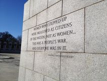 Monumento di WWII in Washington DC Fotografie Stock