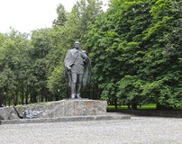 Monumento di Yanka Kupala a Mosca Fotografia Stock