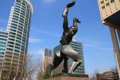 Monumento distrutto della città - Rotterdam - Paesi Bassi Fotografia Stock