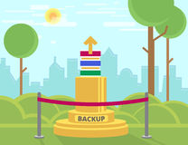 Monumento do backup de dados Fotografia de Stock Royalty Free
