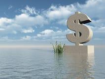 Monumento do dólar ilustração stock