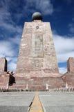 Monumento do equador foto de stock