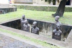 Monumento do escravo de Zanzibar fotos de stock royalty free