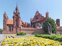 Monumento do granito ao poeta Adam Mickiewicz Imagem de Stock