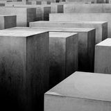 Monumento do holocausto, Berlim Imagem de Stock