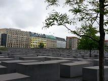 Monumento do holocausto em Berlim Fotografia de Stock