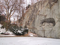 Monumento do leão, lucerna Foto de Stock