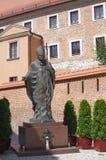 Monumento do papa John Paul II imagens de stock royalty free