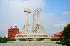 Monumento do partido comunista, Pyongyang, Coreia do Norte Imagens de Stock