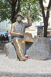 Monumento do pintor ingênuo Nikifor Epifaniusz Drowniak, Lviv, Ucrânia Foto de Stock Royalty Free