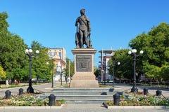 Monumento do príncipe Grigory Potemkin-Tavricheski em Kherson foto de stock royalty free