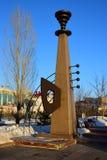 Monumento do projeto original em Astana foto de stock