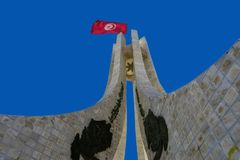 Monumento do quadrado de Kasbah em Tunes, Tunísia foto de stock
