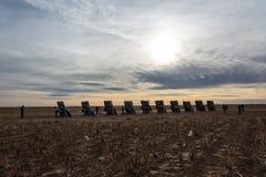 Monumento do rancho de Cadillac em Amarillo, TX imagens de stock royalty free