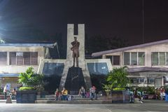 Monumento do ` s do herói de Filipinas no parque de Rizal na cidade de Davao Fotografia de Stock Royalty Free