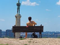 Monumento do vencedor, Belgrado, Sérvia imagens de stock